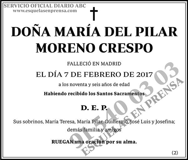 María del Pilar Moreno Crespo